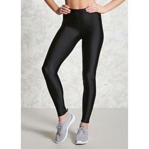 ⭐️2 for $20⭐️BNWOT Forever 21 black shiny leggings
